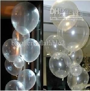 10 Inch Transparent Balloons Clear Latex Free Balloon Helium Balloons Online with $0.1/Piece on Brotherinflatable2's Store | DHgate.com