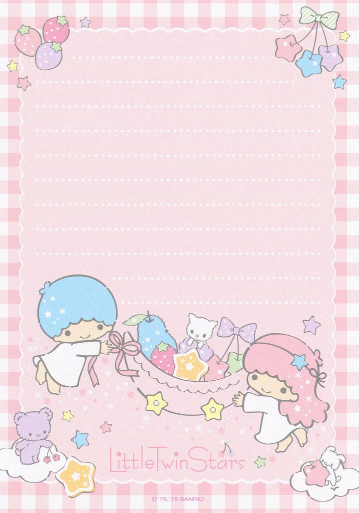 Cute Notepad Wallpaper Sanrio Little Twin Stars Memo 2015 Coloring Pages