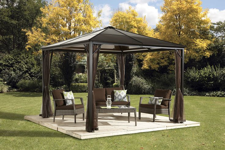 10x10 Hard Top gazebo with mosquito netting #SOJAG
