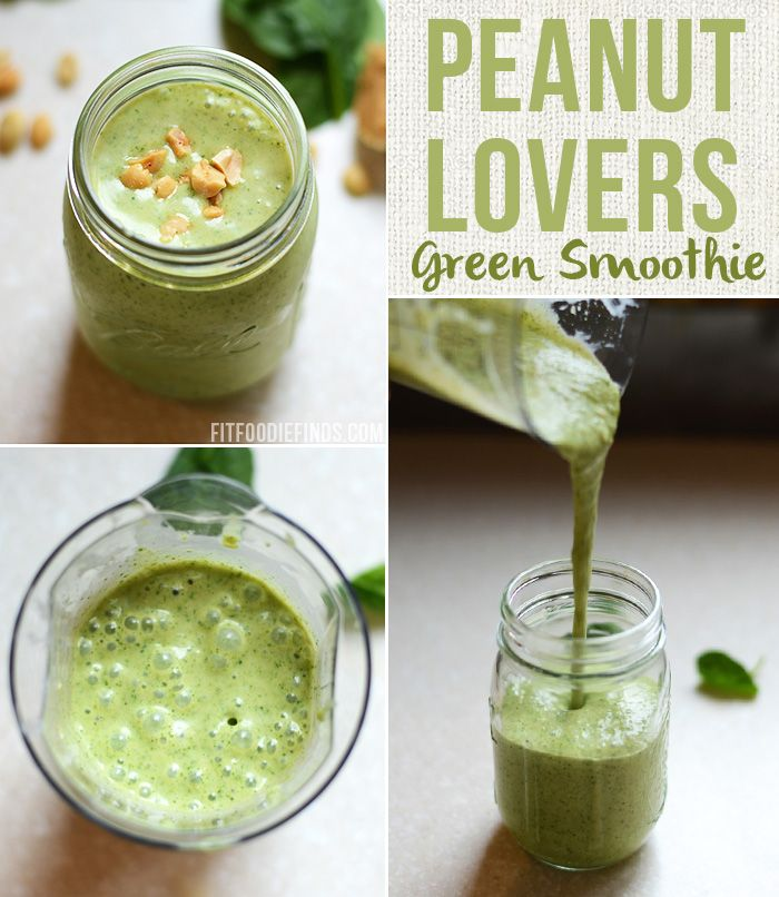 Peanut Lovers Green Smoothie- the name says it all! #GlutenFree via FitFoodieFinds.com