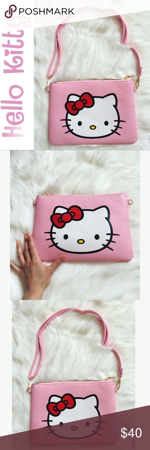 Hello Kitty Pink Crossbody/Shoulder/Clutch Bag 💕 Hello Kitty Pink Crossbody/ Shoulder/ Clutch Purse 💕 Hello Kitty Bags Crossbody Bags