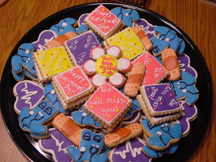 Nurse Retirement Party Ideas Retirement cookies for a nurse
