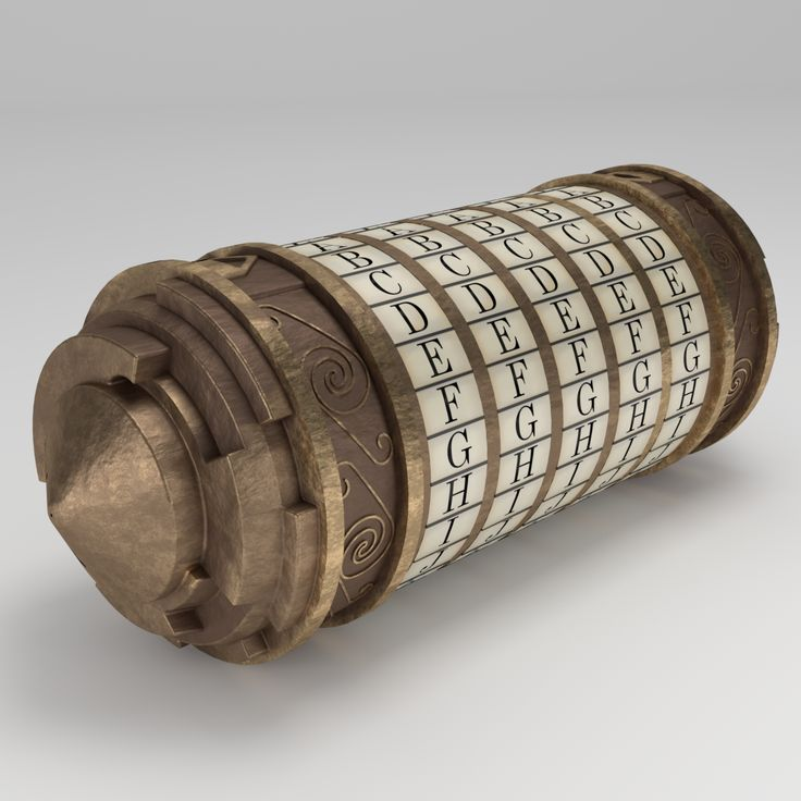 3D model of The Da Vinci Code Cryptex with UVs, diffuse, occlusion, normal, specular maps.