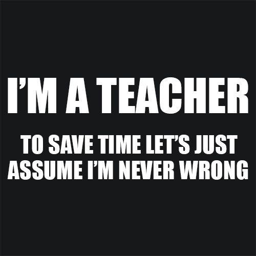 Funny Teacher T Shirt Description Textual Tees - TShirt & Apparel - Funny…