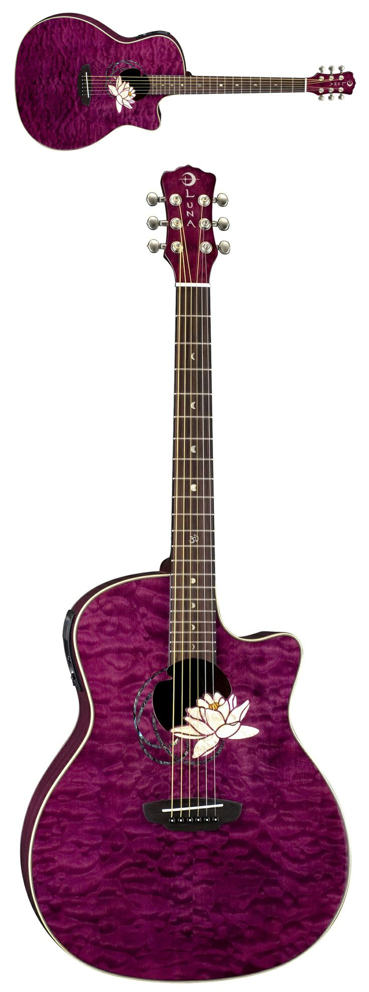 176 best i love luna guitars images on pinterest luna guitars luna guitars flora lotus acoustic electric guitar cheapraybanclubmaster Image collections
