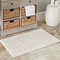 @Overstock.com - These contemporary bath mats add style to any bathroom. Made from machine-washable cotton, these rugs are extra dense for your added comfort and are a luxurious option for your new bathroom decor. They feature a non-slip, latex backing to reduce falls.http://www.overstock.com/Bedding-Bath/Spa-2400-Gram-Serenity-Natural-Mats-Set-of-2/6780542/product.html?CID=214117 $57.19