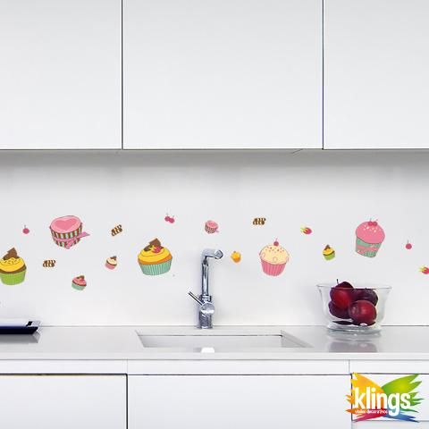 Vinilos Decorativos - muffin Coloridos CUPCAKES, pastelitos, swett. WALL STICKER DECOR