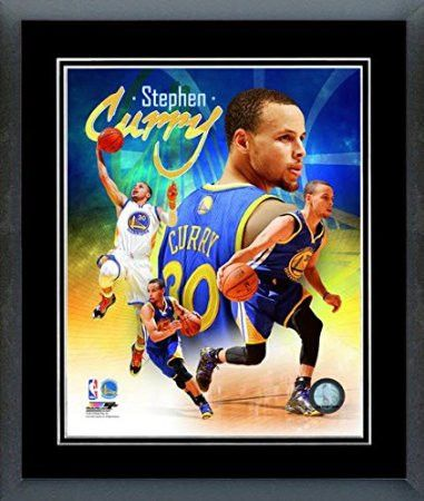 Stephen Curry Framed With double black matting Ready To Hang- Awesome & Beautiful