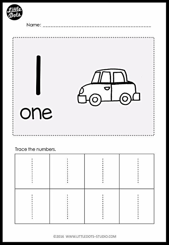 PreK Numbers 1 to 10 Worksheets and Activities Numbers