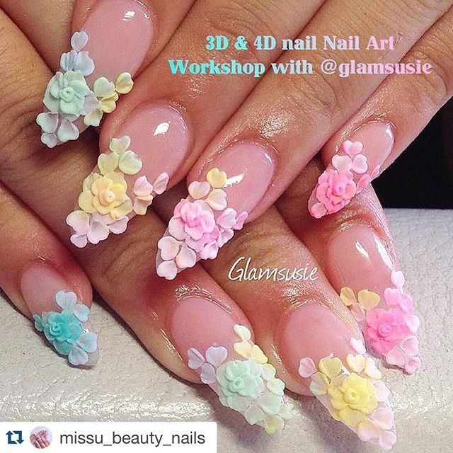 Top 25+ best 3d nails art ideas on Pinterest