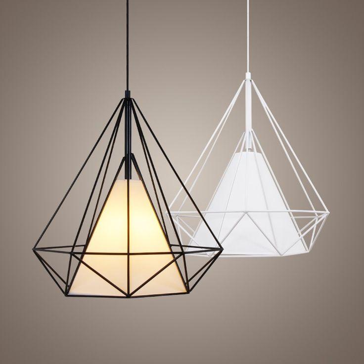 birdcage chandeliers Scandinavian modern minimalist art pyramid iron chandelier…