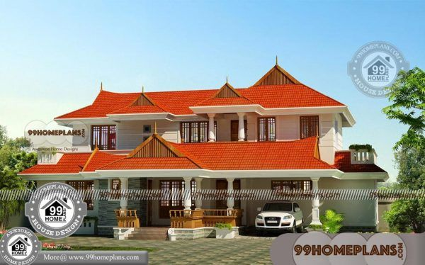 Cheap Double Story Homes With Old Style Kerala House Patterns Free Courtyard House Plans Home Design Floor Plans House Design Pictures