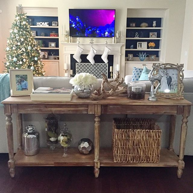 Best 25+ Table behind couch ideas on Pinterest | Bar table ...