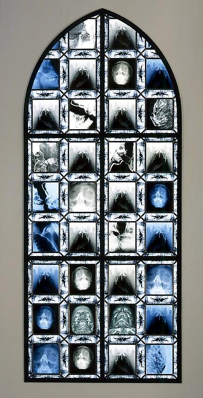 Wim DelvoyeEuterpe, 2001 - 2002steel, x-ray photographs, glass, lead783/4 x 31.5 inches200 x 80cmSW 02299