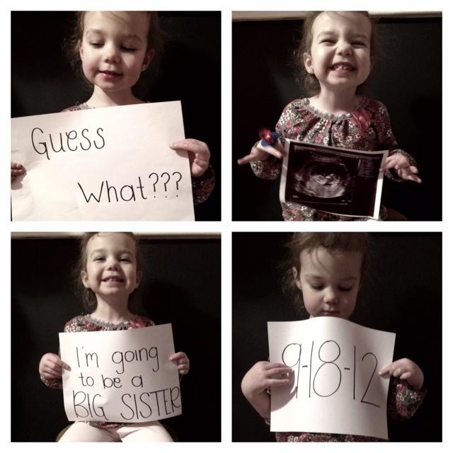 Proud big sister :)  Pregnancy announcement