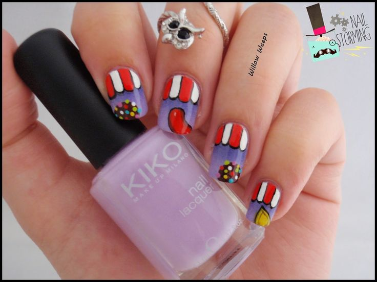 Willow Weeps: Nailstorming #67 - Candy (crush) inspiration Cherry Nail Art