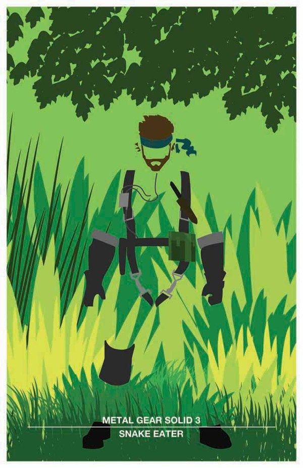 Metal Gear Solid 3 by Sam Cook, via Behance