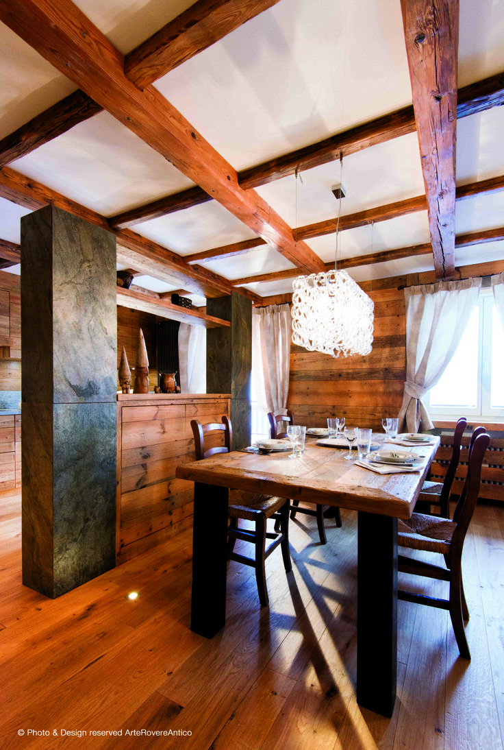 || Arte Rovere Antico - Photo by Duilio Beltramone for Sgsm.it || Casa Cervino -  Cervinia - Italy - Wood Interior Design - Mountain House