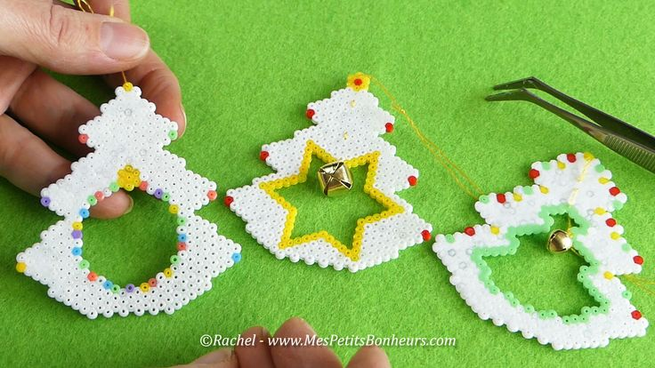 DIY – Déco de Noël en perles Hama : Mini Sapins à suspendre