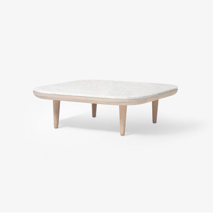 Table basse Fly marbre SC4 - Blanc - And Tradition