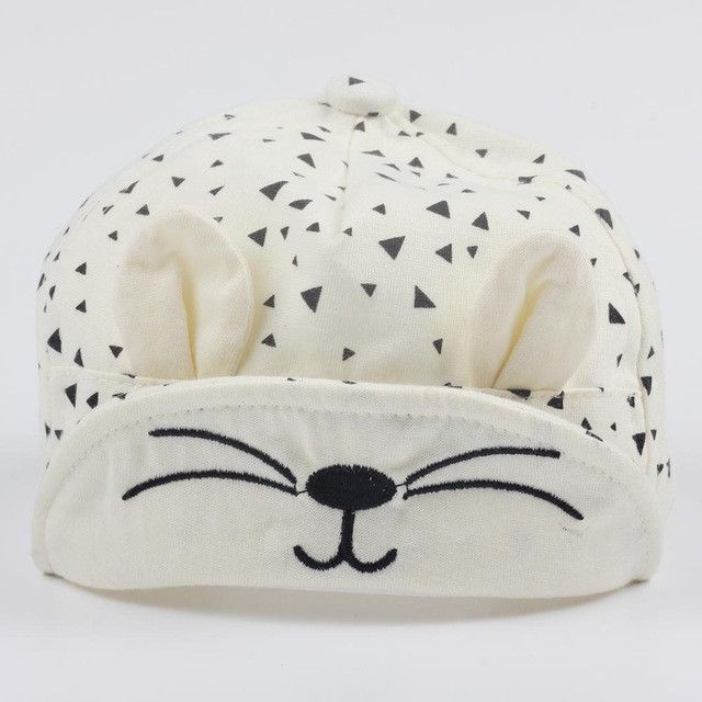 Cute Baby Cartoon Cat Hat Kids Baseball Cap Palm Newborn Infant Boy Girl Beanies Soft Cotton Caps Infant Visors Sun Hat