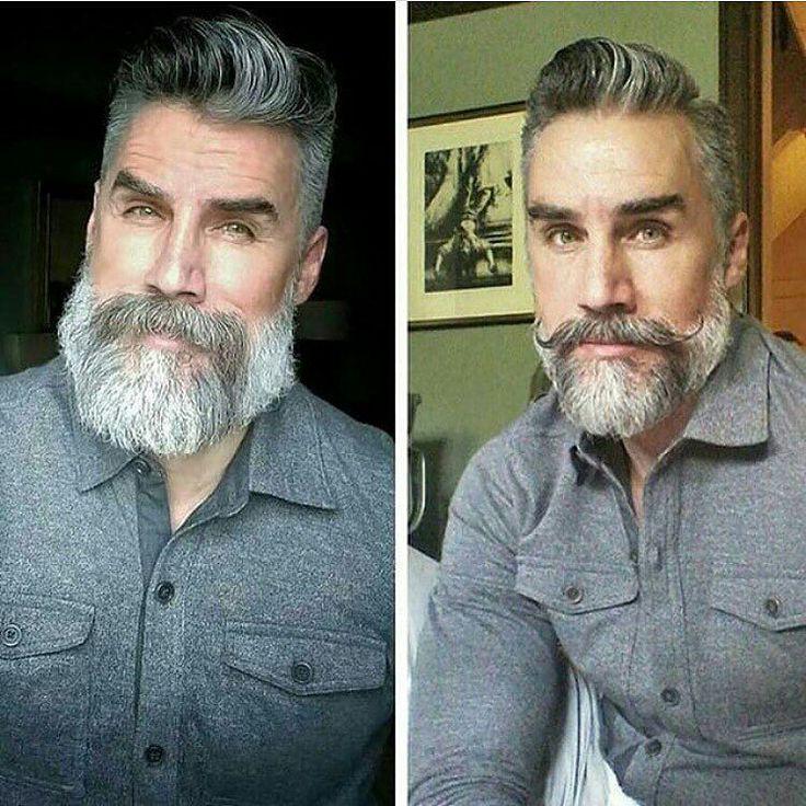 insanely cool salt & pepper beard