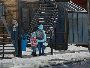 Painting - A Winter Walk On Wellington by Reb Frost