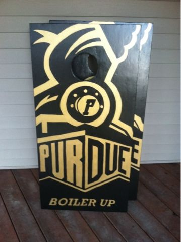 Purdue University cornhole board design - would be an awesome DIY project