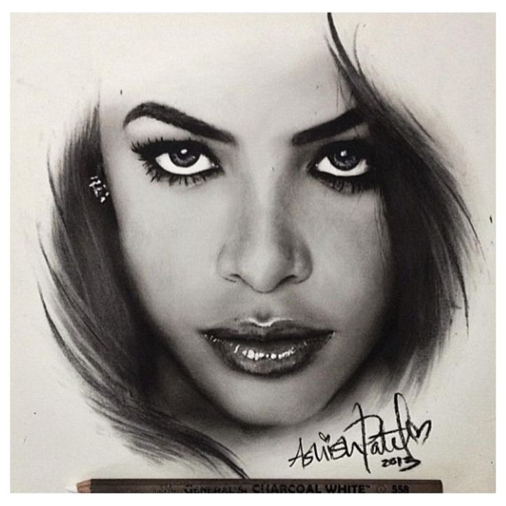 Drawing of aaliyah love the drama added by the strokes for Beautiful sketch paintings