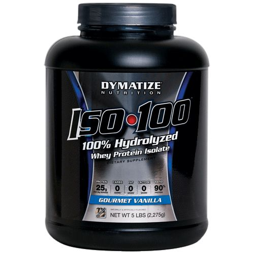 Dymatize ISO-100 is  100% super clean whey isolate protein powder for athletes and those who want only protein in their shakes. This Whey isolate protein has been refined to move out even more non-protein elements than whey concentrates.