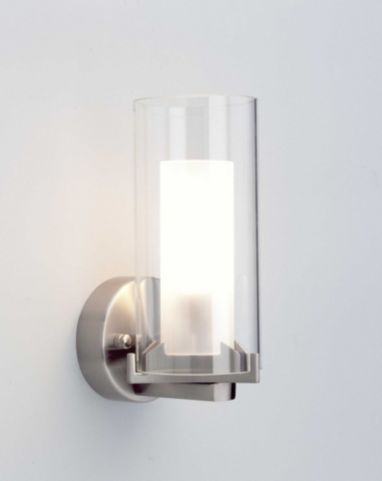 Buy brilliant adrano wall light in satin chrome from our glass lamp shades range tesco
