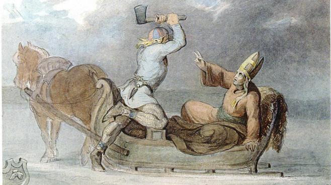 Lalli tappoi piispa Henrikin. Lallista ei ole varmuutta, mutta ensimmäinen kronikoissa mainittu suomalainen Pietari Kaukovalta oli Henrikin kaltainen lähetyssaarnaaja.