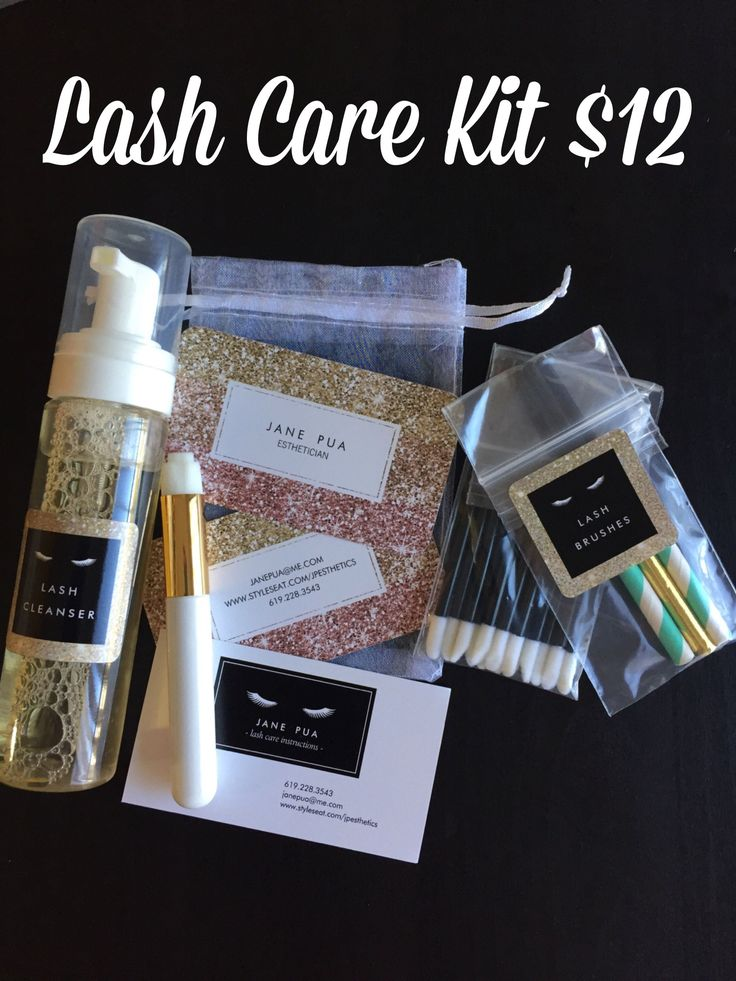 Introducing my Lash Care Kit! Now for sale. | Eyelash ...