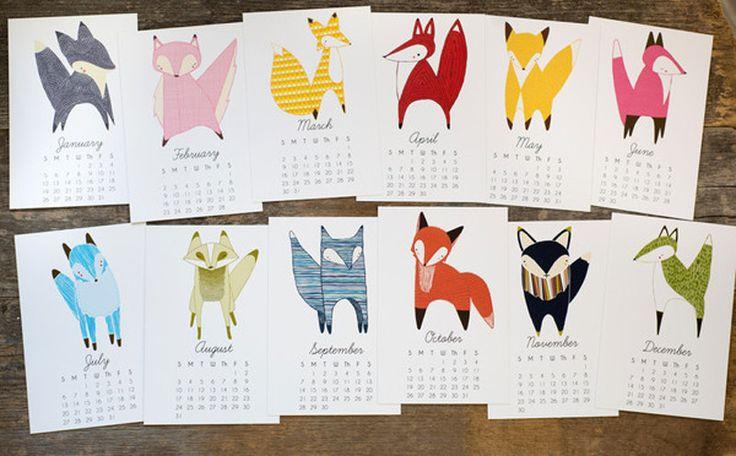 Fox 2016 Desk Calendar