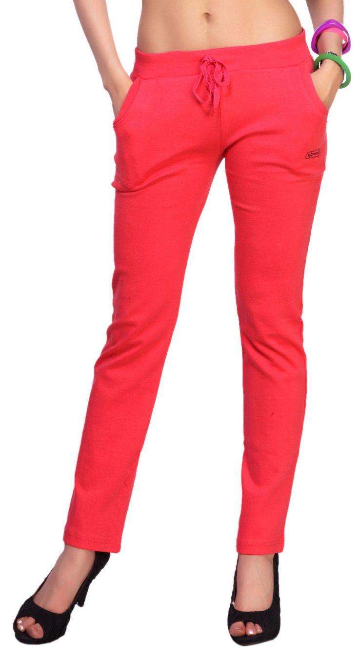 Fancy Imported Cotton Lycra Fabric Stylish Women Full Track Pant 3155