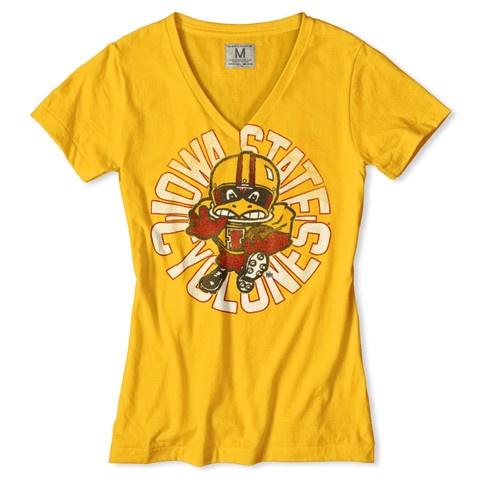 Iowa State Football V-Neck T-Shirt $34.00