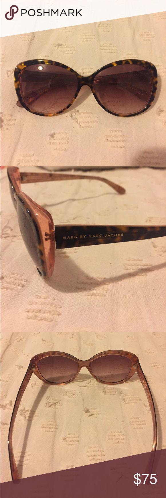 Marc by Marc Jacobs Cat Eye Sunglasses Beautiful tortoise and pink toned cat eye sunglasses. Bought a few summers ago and haven't worn in a bit. Authentic Marc by Marc Jacob from Nordstrom. Marc By Marc Jacobs Accessories Sunglasses