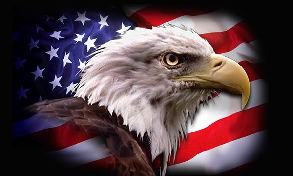 American Flag With Eagle Wallpaper