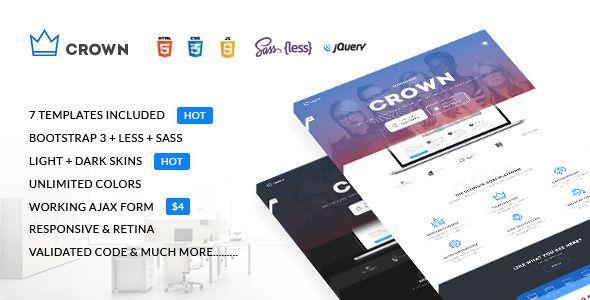 Crown - Multipurpose Responsive Landing Page