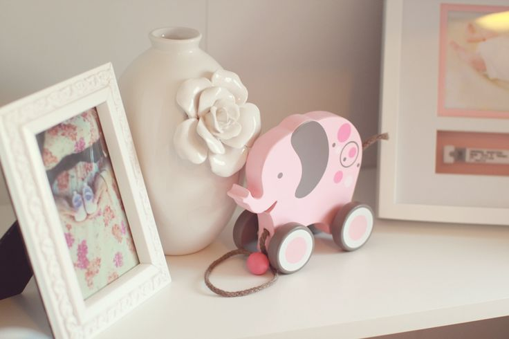 Pretty Pink, Gray, and White Nursery | The Little Umbrella