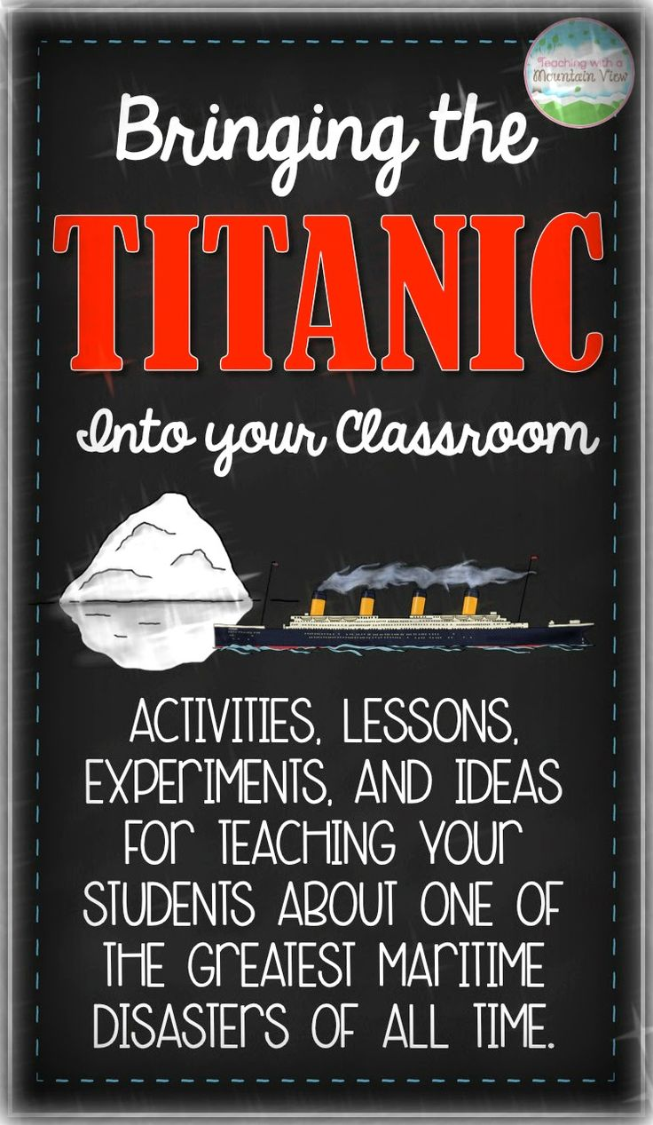 A HUGE collection of Titanic Lessons, Experiments, Activities, and More! Bring Titanic into your classroom with these ideas!