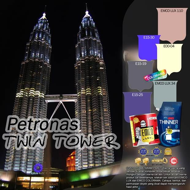 Petronas Twin Tower #BiasaJadiLuarBiasa #EMCOPaint http://matarampaint.com/detailNews.php?n=340