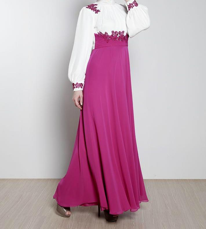 Mileny Evening Dress 2013 #fuschia #Hijab
