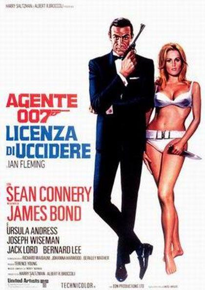 """Agente 007, licenza di uccidere  Un film di Terence Young. Con Sean Connery, Ursula Andress, Joseph Wiseman, Jack Lord, Bernard Lee. continua» Titolo originale """"Dr. No"""". Avventura, durata 105 min. - Gran Bretagna 1962"""