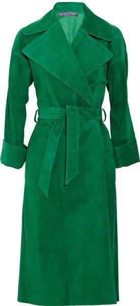 RALPH LAUREN Leah Suede Coat   dressmesweetiedarling