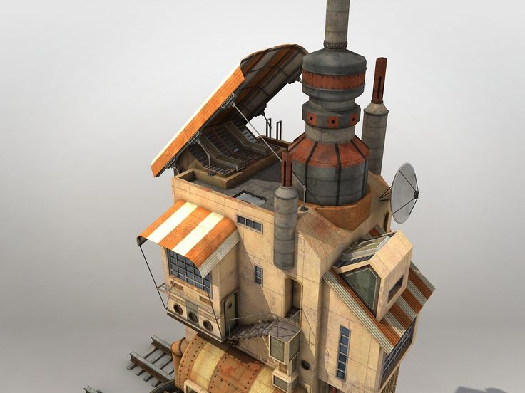 Konstantyn danylenko steampunk vehicle house v4