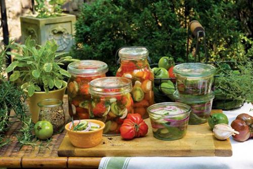 Four Easy Pickle Recipes | Small Footprint Family (cukes, mustard greens, tomatoes, zucchini)