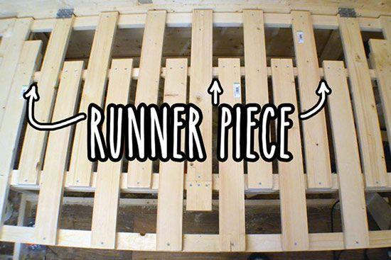 Extending slats with runner piece