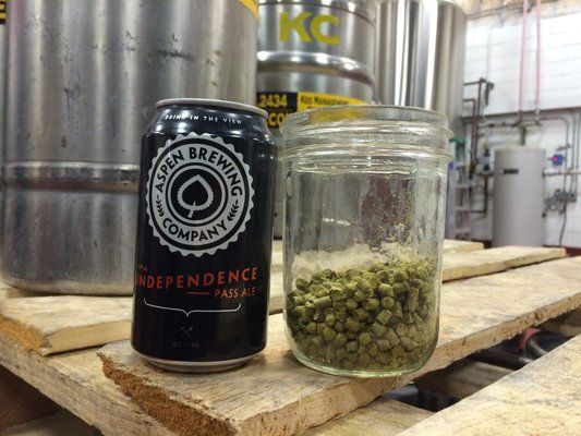 Before and after: a still life of beer. IPA and its hops.| Yelp