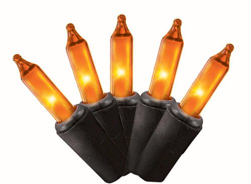 100 count miniature orange halloween light set at menards - Menards Halloween Decorations